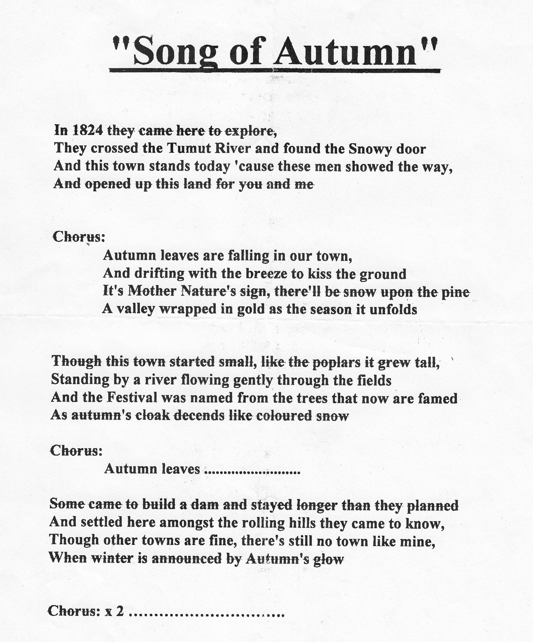 Song of Autumn - Tumut Festival of the Falling Leaf - Lost ...