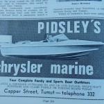 Pidsley's Marine Advertisement