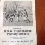 NSW vs Qld Primary Schools Test – 1979