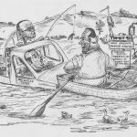 Lyle Baker Cartoon – Burrinjuck Fishing Trip